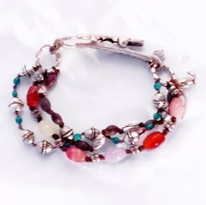 Retired Lucky Brand Double Beaded Bracelet
